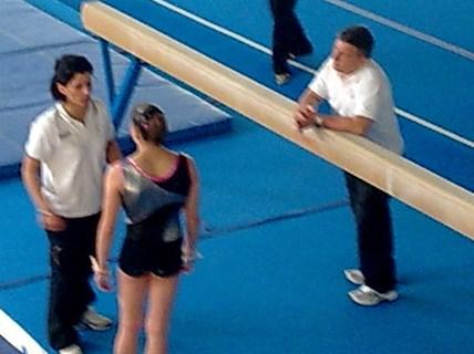 Riccardo Brilli e Fabiola Cantini con Lisa sul campo gara