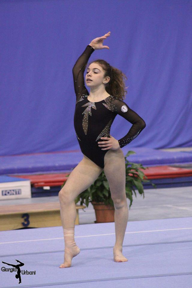 Mortara, 13/12/2015. Camp. Categoria Junior 1ª fascia - Alice Fantini sulla pedana della finale di specialità al Corpo Libero.