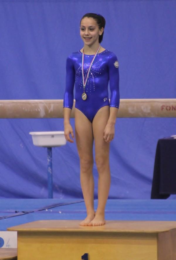 Mortara, 13/12/2015. Camp. Categoria Junior 2ª fascia - Alexandra Kalmykova sul gradino più alto del podio della finale di specialità Trave