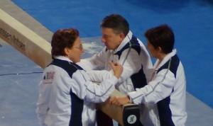 Gli allenatori Riccardo Brilli, Laura Bisi e Fabiola Cantini