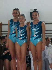 Serie D LD Junior/ Senior: Matilde Chiti, Matilde Capizzi e Alessia Chiti.