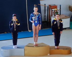 Alessia Mariani sul podio della categoria Junior 1